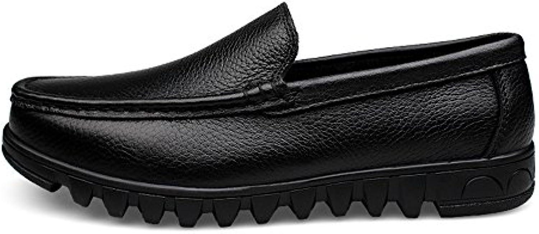 Ouyangyan Große Größe Herren Lederschuhe weisshe Bequeme Schuhe Low Hop (23.5 29cm) Allgemeine Schuhe