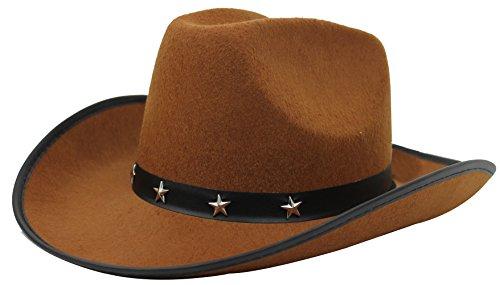 COWBOY STAR con cappello IN primo piano a FANCY accessori per Costume da donna IN Nero, Marrone, Rosa o bianco a COWBOY COWGIRL cappelli WILD WEST