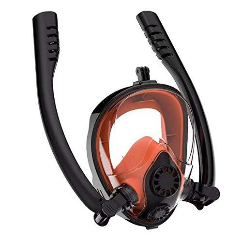 FOONEE Schnorchel-Maske, Vollgesichts-Trockentop, 2019 Upgrade-Schnorchel-Maske Mit 2 Atemschlauch Und Kamerastativ Anti-Fog-Anti-Leckage 180 ° Free View Panorama-Schnorchel-Maske Für Erwachsene -