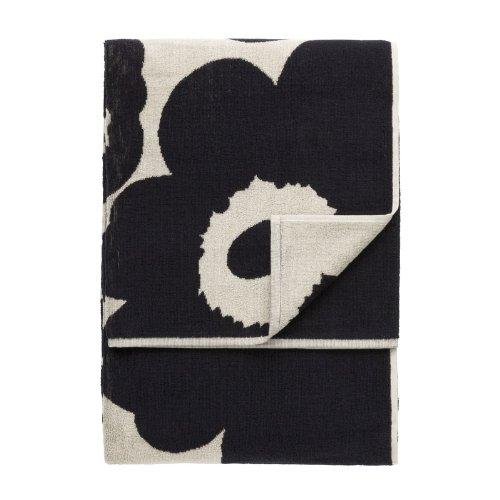 marimekko-unikko-schwarz-sand-strandhandtuch-100x180-cm