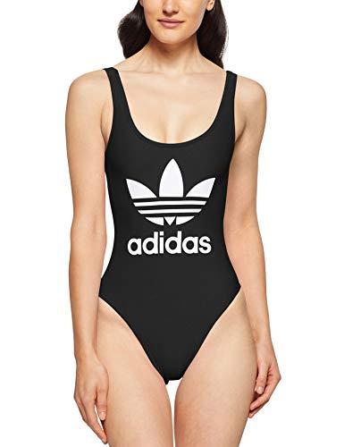 adidas Damen 3-Stripes Trefoil Badeanzug Black 34
