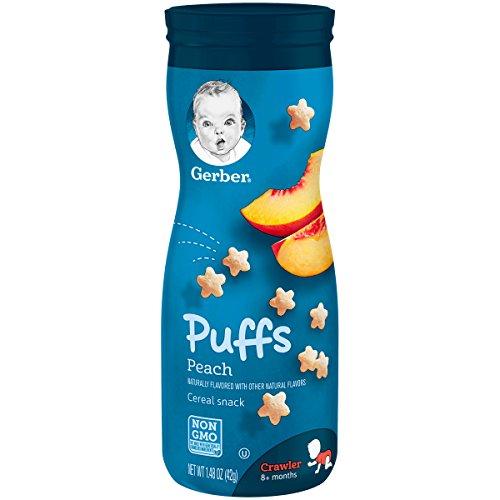 Absolventen, Puffs Getreide Snack, Pfirsich, Crawler, 1,48 Unzen (42 g) - Gerber