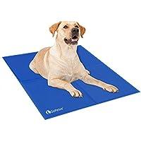 GoPetee Alfombrilla de Refrigeración para Mascotas Cama de Perro y Gato para Verano Animales Manta de Dormir Fresco Cojín Azul (M (50*65cm)) (XL 81x96 cm)