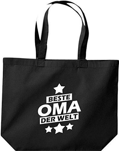 Tote Bag Grande Di Shirtstown, Migliore Nonna Del Mondo, Nera