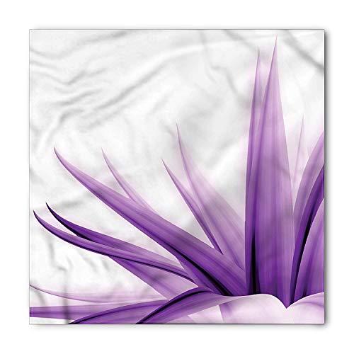 Flower Bandana, Purple Ombre Lotus Art, Unisex Head and Neck Tie, Printed Unisex Bandana Head and Neck Tie Scarf Headband, Multicolor S 60x60cm Lotus Flower Dress