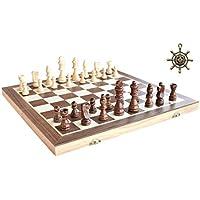 """Échecs magnétiques HOWATE 15 """"X 15"""" pouces Ensemble d'échecs en bois pliable International Unique Handmade Tournament Chess Game"""