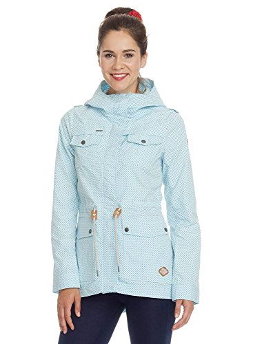 Ragwear Laika Minidots Damen Jacke aqua Blau