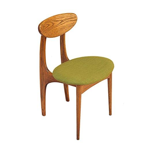 Sessel SUBBYE Massivholz Essen Freizeit Stuhl Weiß Eiche Cafe Bar Restaurant Stühle (Farbe Optional) (Farbe : Grün, größe : *1)