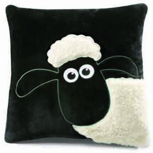 Nici 33110 - Kissen Shaun das Schaf quadratisch - Französisch Quadratische Kissen