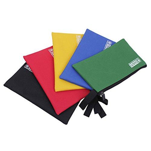 OUNONA Werkzeugtasche Stoff Aufbewahrungsbeutel Multifunktion Handtasche für Kleine Dinge Speicher 5pcs (Gelb + Rot + Grün + Blau + Schwarz) (Mit Reißverschluss Multifunktions-organizer)