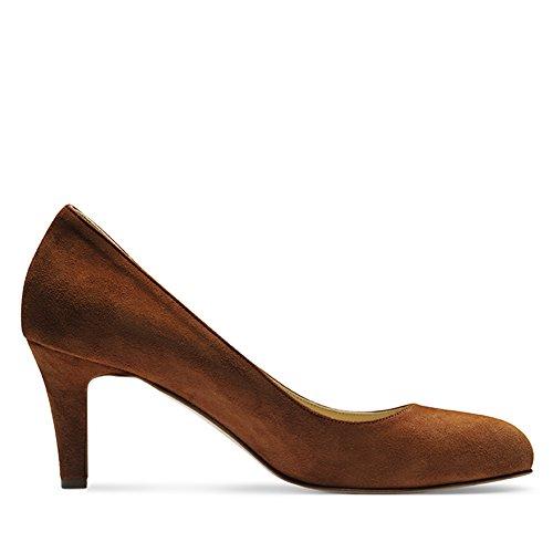 Marrone Evita Scarpe Cognac col Shoes tacco donna nAX1qp