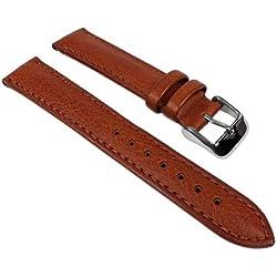 Soft-Kalb Ersatzband Uhrenarmband weiches Kalbsleder Braun / Honig 22907S, Stegbreite:20mm