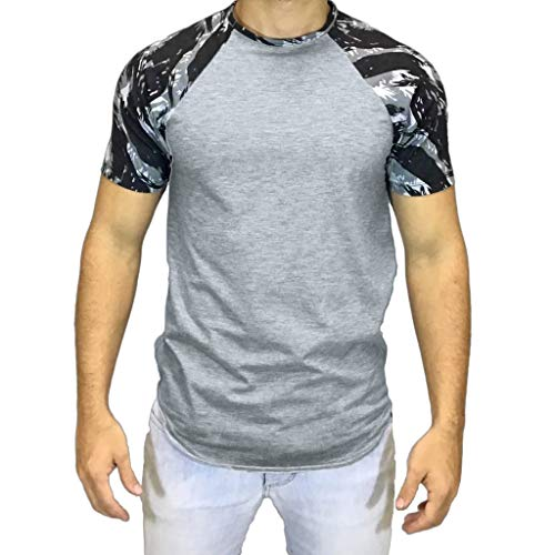 5f50c98f825 PRINCER Men s Camouflage Muscle Tshirt Men Slim Fit Short Sleeve Blouse  Summer Top Clothing Casual Sports