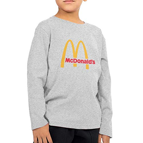 Organic Infant Creeper (Kinder Baby Mädchen Jungen Sommer T-Shirt McDonalds Logo T Shirt Shirts Für Kleinkind Mädchen Jungen Ärmellose Grau 5/6 T)