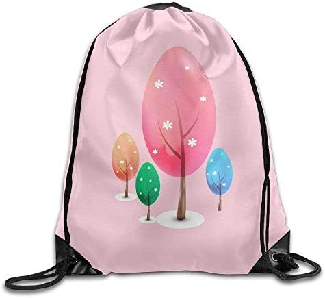 LULABE Folding Sport Backpack Casual Daypacks for Team Group Hommes Hommes Hommes  Femme - (Spring Colorful Trees - Pink) | Exquis  86a045
