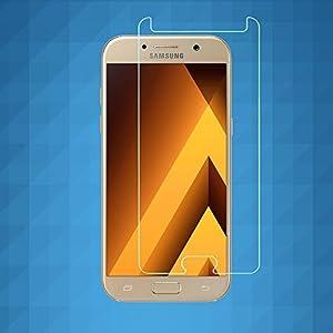 ibas Panzerglas-Displayschutz, Hartglas-Schutzfolie für das Samsung Galaxy A3 2017, voll transparent von ibas auf TapetenShop