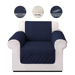 LIVACASA Sesselschoner Sofaschoner rutschfest Sofaüberwurf Wasserabweisend Gesteppte Sesselschutz Sofa Abdeckung Cover…