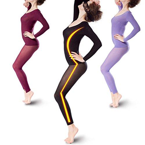 Zhhlaixing 37° Constant Temperature Thermal Underwear Women Biancheria intima termica di qualità Autumn High Elastic Seamless Beauty Body Top & Bottom Dark Green