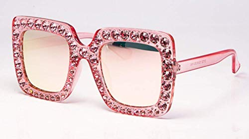 GFF Dame Diamond Sunglasses Square für Frauen Pink Red Brand Glasses Designer Fashion Female Ladies 45271