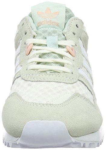 adidas ZX 700, Entraînement de course femme Blanc (Off White/Ftwr White/Vapour Green)