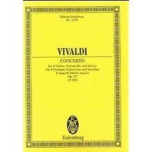 L'Estro Armonico: Concerto grosso  F-Dur. op. 3/7. RV 567 / PV 249. 4 Violinen, Violoncello und Streicher. Studienpartitur. (Eulenburg Studienpartituren)