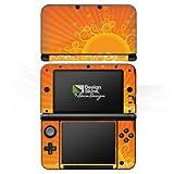 DeinDesign Nintendo 3 DS XL Case Skin Sticker aus Vinyl-Folie Aufkleber Sonne Sun Orange