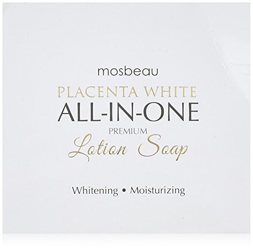 Protein Moisturizing (Mosbeau Placenta White Premium Facial Lotion Soap - Placenta Protein and Moisturizing Ingredients have Anti-Aging and Skin Brightening Effects. New 2015 Formula from Japan by Mosbeau)