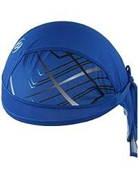 Deportes Headwear secado rápido Sun Protección UV Ciclismo bandana gorro de correr bicicleta motocicleta tapa debajo del casco azul