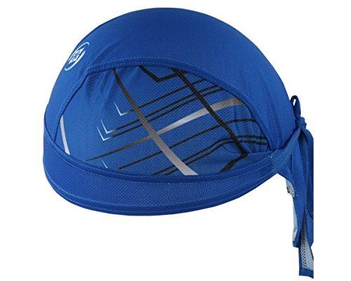 Imagen de ahatech deportes headwear secado rápido sol protección uv ciclismo bandana running gorro casco de bicicleta motocicleta cap azul
