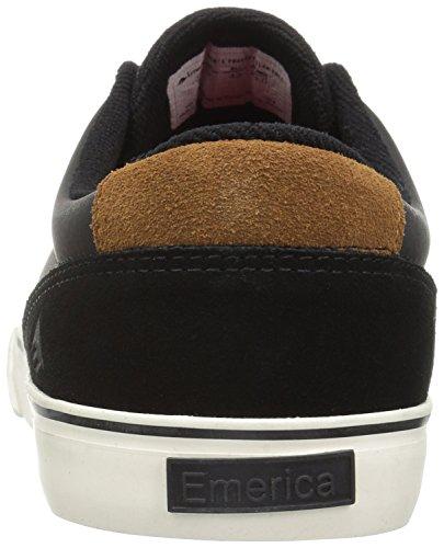 Herren Skateschuh Emerica Provost Slim Vulc Skateschuhe black/brown