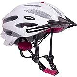 HUDORA Fahrradhelm Granit Damen Herren, Fahrrad-Helm Rad-Helm Gr. 55-61, grau/fuchsie