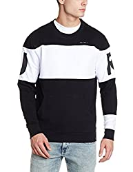 Lee Mens Cotton Sweatshirt (8907649227633_L28919CB0H2000L_Jsw-Black)