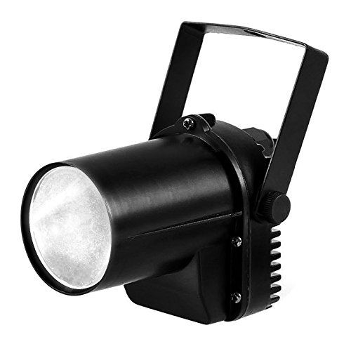 Led Weiße Dj Licht (TSSS 3W Weiß LED Strahl Pinspot Licht DJ Discokugel Punktstrahler Scheinwerfer Bühnenbeleuchtung Bühnenlicht kreisrunden Lichtpunkt Für Hochzeit Party Disco Bar KTV)