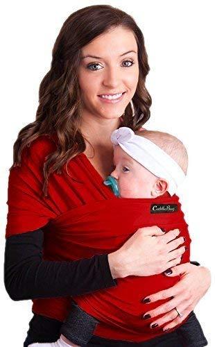 Porte bébé CuddleBug - Écharpe de portage rouge pour bébé - ENTIÈREMENT  NATURELLE - Taille Unique 5a36b39af55