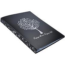 Basteln, Malen & Nähen schwarz Baoblaze 1 Stück Musik Noten Ordner Doppelseiten-Ordner für Berichte und Notenblätter
