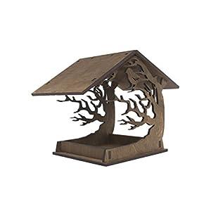 Hängender Vogel Futterhaus – Hölzerner Vogel Futterhaus – Gartendekoration – Brauner Vogel Futterhaus – Lasergeschnittenes Vogel Futterhaus – Einweihungsfeier Geschenk