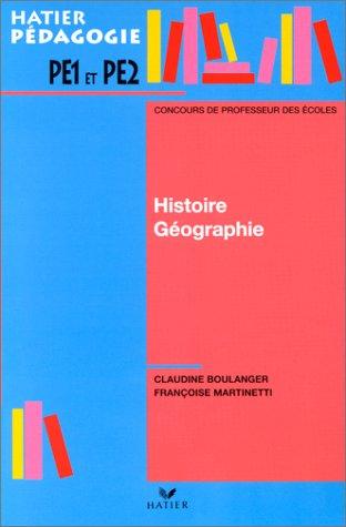 Histoire-géographie, concours des professeurs des écoles