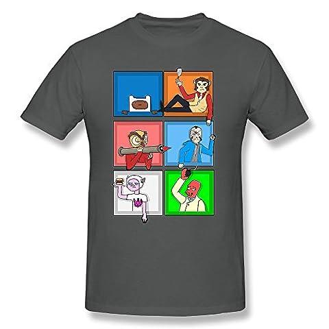 Q-QQ9 - T-shirt - Homme - gris - M