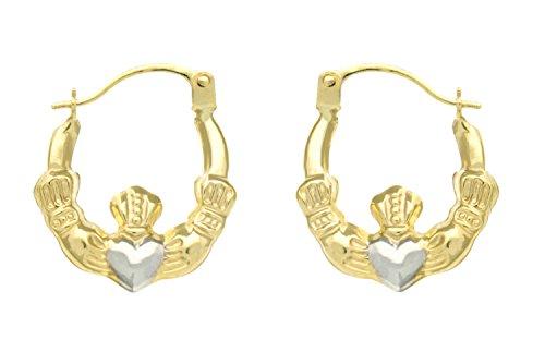 H. Gaventa Ltd E - 10852 - Pendientes de mujer de oro bicolor (9k)