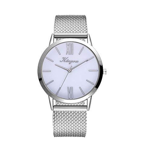 Damen Armbanduhr,Alaso Classic Minimalistisches Design Mode Beiläufige Quarz-Silikonband Damen Slim Uhr