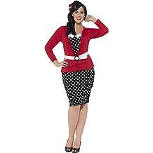 Smiffy 's–Disfraz de pin up para la Mujer Plus Size 1950(Tamaño Grande)