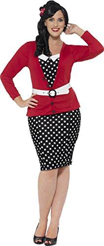 Smiffy 's–Disfraz de pin up para la Mujer Plus Size 1950(x2)