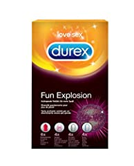 Idea Regalo - Durex Fun Explosion Preservativi Stimolanti Assortiti, 18 Profilattici