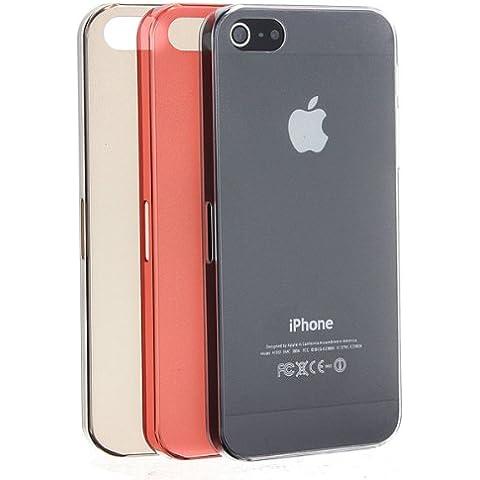 Crystal caso de la piel transparente duro delgado Ultra-delgada para el iPhone 5 5S.