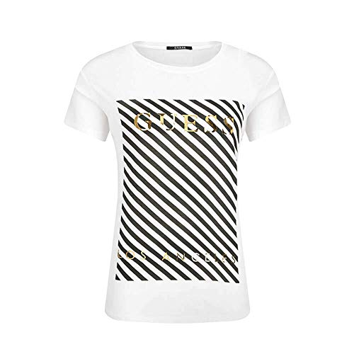 Guess Stripes T-Shirts & Poloshirts Damen Weiss - M - T-Shirts