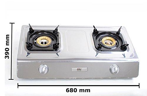 Severin Pg 2791 Barbecue Elektrogrill Schwarz : Nsd 2 hochwertiger edelstahl gaskocher 2 flammig 9 0 kw lpg