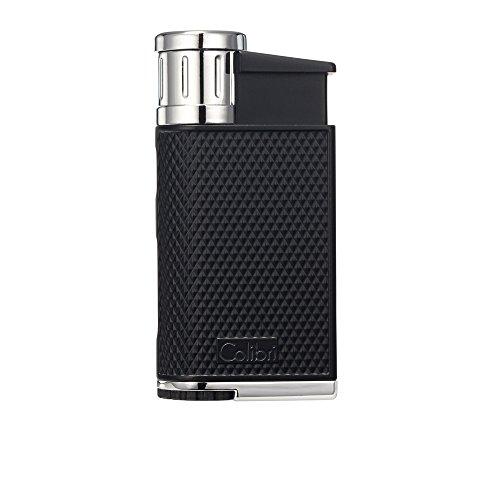 Colibri Evo Single Jet Flame schwarz & chrom Wind beständig nachfüllbar Zigarre Feuerzeug - Und Zigarren-cutter Feuerzeug