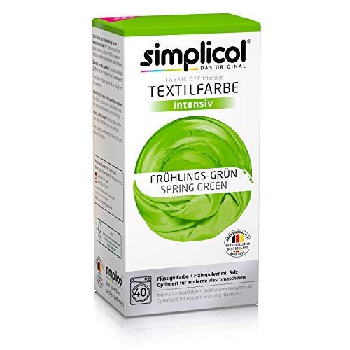 Simplicol Textilfarbe intensiv (18 Farben), Frühlings-Grün 1813, Hellgrün: Einfaches Färben in der Waschmaschine, All-in-1 Komplettpackung -