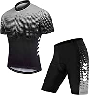 TOMSHOO Abbigliamento Ciclismo, Completo Ciclismo Uomo, Set di Maglie da Ciclismo Primaverili ed Estive, Panta
