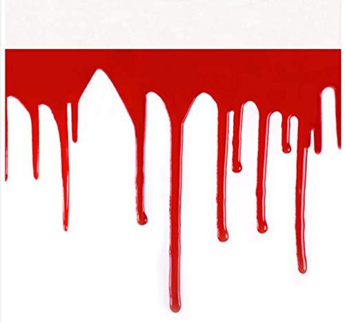 Halloween Blutende Halskette Blood Scarf Halskette Horror Vampir Blutigen Schnitt Hals Halsband Artikel ()
